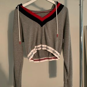 cropped tommy hilfiger hoodie